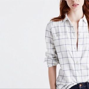 Madewell Oversize Ex-Boyfriend Shirt Windowpane XL